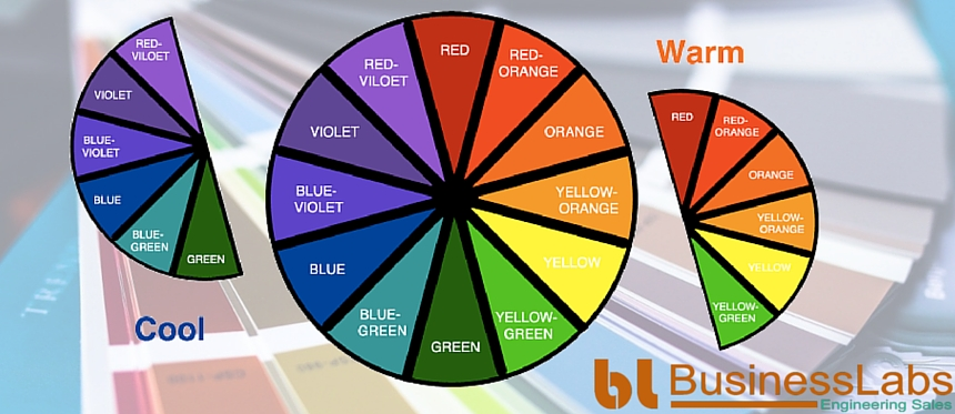 warm colors and cool colors in color psychology for web design