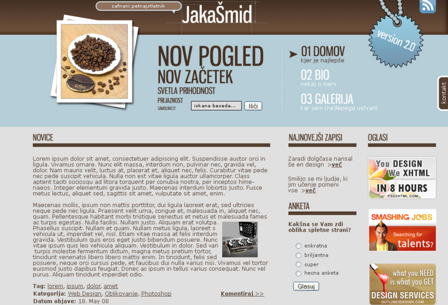 Color combination of Jakasmid Web design