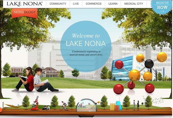 Color combination of LakeNona Web design
