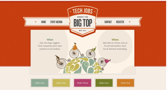 Color combinations of tech jobs website