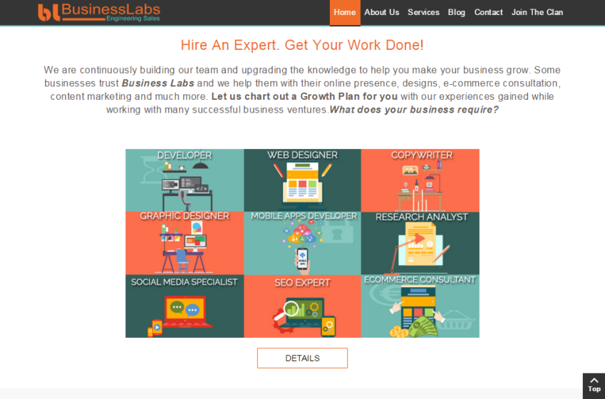 Business Labs Website Design