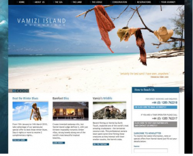 Color combination of Vamizi Island Web design