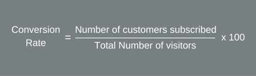 formula to know conversion rate of subscribers